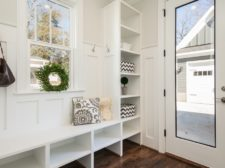 Declutter your mudroom and entry for a quick sale