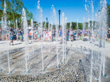 Peachtree Corners Town Center Interactive Fountain